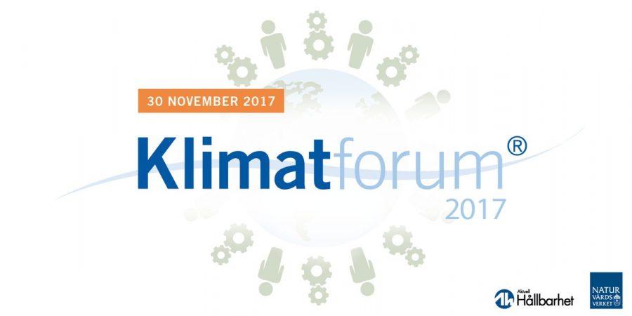 Klimatforum i Stockholm 30 november