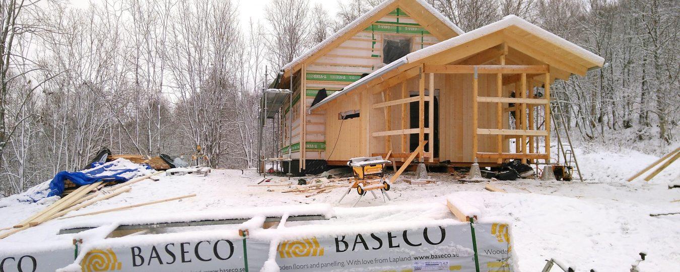 Ekohuset har blivit med golv #Baseco